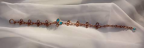 Sady šperkov - Motýlikový náramok s náušnicami v modrom - 8433127_