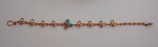 Sady šperkov - Motýlikový náramok s náušnicami v modrom - 8433145_
