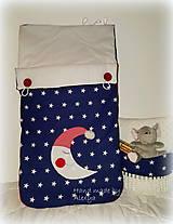 Textil - Detsky fusák, spací vak mesiačik (45X80 cm) - 8433323_