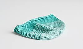 Detské čiapky - Pletená čiapka pre bábätko - tyrkysová - 8431490_