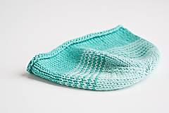 Detské čiapky - Pletená čiapka pre bábätko - tyrkysová - 8431493_