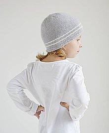 Detské čiapky - Pletená detská čiapka - sivá - 8431649_