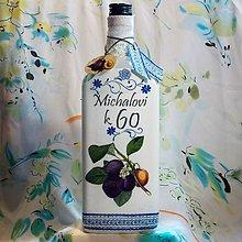 Nádoby - Darčeková fľaša Slivovica k 60-ke - 8431395_