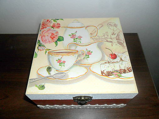 Krabička na čaj - béžová   Cilekova - SAShE.sk - Handmade Krabičky 6ee6cf08b9