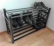 Nábytok - Kovaný botník, Regál na topánky - 8433003_