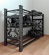 Nábytok - Kovaný botník, Regál na topánky - 8433010_