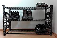 Nábytok - Kovaný botník, Regál na topánky - 8433012_