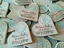 Darčeky pre svadobčanov - svadobné magnetky so vzorom - 8431772_