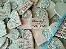 Darčeky pre svadobčanov - svadobné magnetky so vzorom - 8431773_