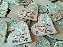 Darčeky pre svadobčanov - svadobné magnetky so vzorom - 8431775_