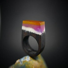 Prstene - Drevený prsteň: Bifröst no. 6 - 8433334_