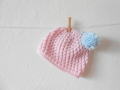 ee6313f8c2 Ružová čiapočka s brmbolčekom   weronyk - SAShE.sk - Handmade Detské ...
