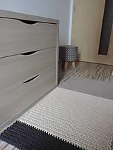 Trojfarebný bavlnený koberec