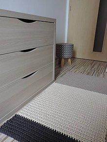 Úžitkový textil - Trojfarebný bavlnený koberec - 8431600_