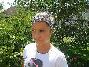 Ozdoby do vlasov - Dievčenská šatka-čelenka - 8434860_