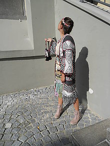 Svetre/Pulóvre - etno kardigan + kapsa - 8435472_