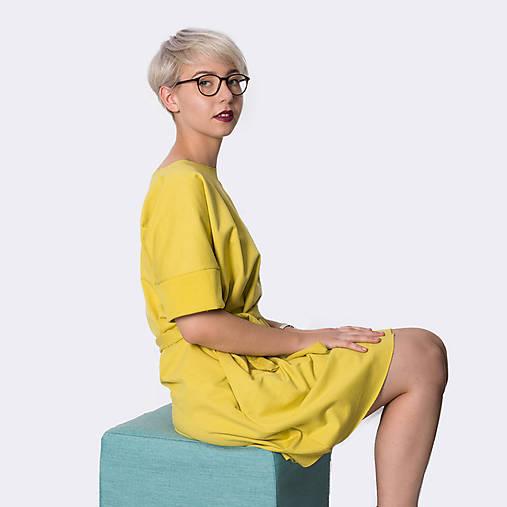 Šaty s vreckami Yellow