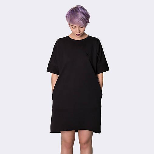 Šaty s vreckami Black   JUST LOVE - SAShE.sk - Handmade Šaty 811d236adcf