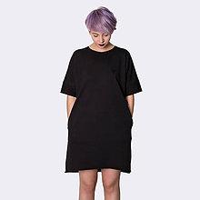 Šaty - Šaty s vreckami Black - 8436605_