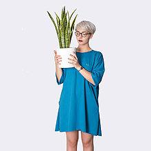 Šaty - Šaty s vreckami  Turquoise - 8436639_