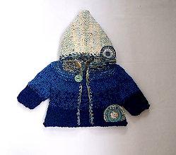 Detské oblečenie - Svetrík pre bábätko  modrý - 8434951_