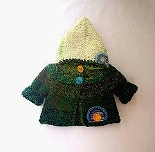 Detské oblečenie - Svetrík pre trpaslíka zelený - 8435051_