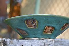 Nádoby - miska zelená, medienková II - 8435710_