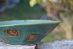 Nádoby - miska zelená, medienková II - 8435737_