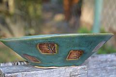 Nádoby - miska zelená, medienková II - 8435791_