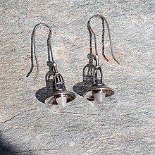 Náušnice - Strieborné náušnice - Staré lampy - 8435976_