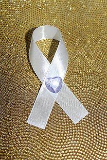 Pierka - Svadobné pierko kryštáľové srdce - 8436230_