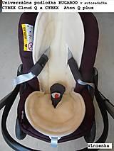 Textil - MERINO podložka do kočíka BUGABOO Bee s ozdobným prešitím ELEGANT White smotanová - 8434346_