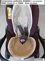 Textil - MERINO podložka do kočíka BUGABOO Bee s ozdobným prešitím ELEGANT White smotanová - 8434349_