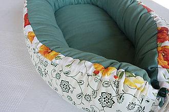 Textil - Hniezdo pre bábätko Nr.617 - Na zelenej lúke - 8435546_