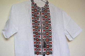 Oblečenie - pánska ľanová košeľa Gejza - 8435341_