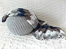 Textil - Háčkovaná deka pre fešáka :) - 8434076_