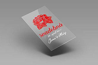 Grafika - Svadobné etikety - svadobná ríbezľovica - 8436344_