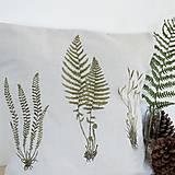 Úžitkový textil - Maľovaný vankúš paprade - 8434272_