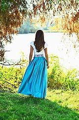 - Folklórna MAXI suknička (obvod pásu do 80cm) - 8435552_
