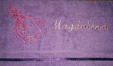 Úžitkový textil - Vyšívaný uteráčik s menom - 8435222_