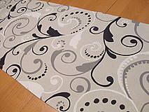 štola -šedé režné plátno