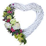 Dekorácie - Prutené srdce - 8435221_