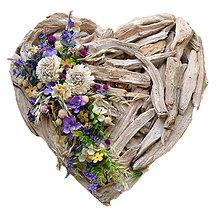 Dekorácie - Srdce s levanduľou - 8434704_