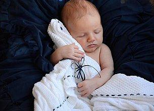 Textil - Pletená detská deka - 8433804_