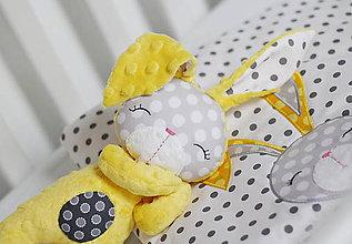 Hračky - Zajačik žlto-šedý - 8436022_