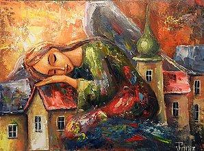 Grafika - Anděl spokojených snu - 8435109_