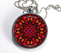 Náhrdelníky - Catedral červený - autorský náhrdelník - velký dlhý - 8436017_