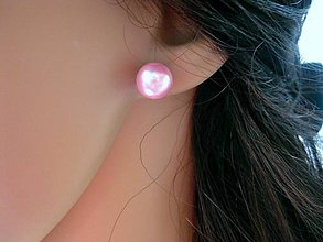 Náušnice - Perly napichovačky - chirurgická oceľ 10mm - 8435083_