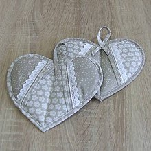 Úžitkový textil - Béžovo smotanová kuchyňa - chňapky - 8435696_