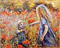 Obrazy - Sestričky, maky a bodky - 8435056_